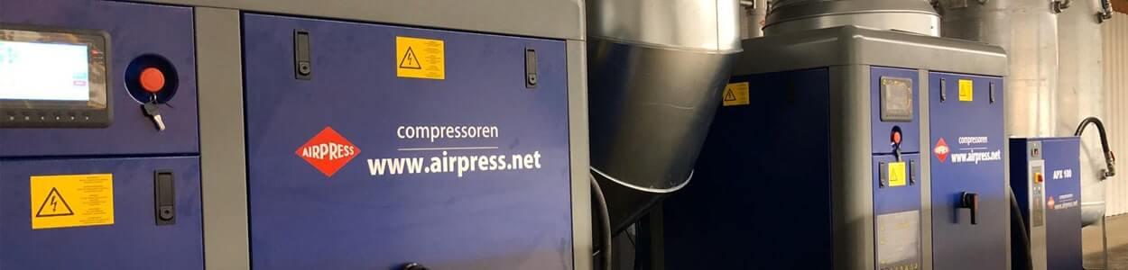 Persluchtinstallatie voorbeeld van Airpress