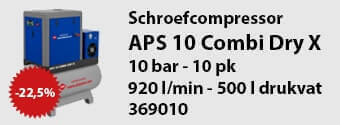 APS 10 combi dry X schroefcompressor aanbieding
