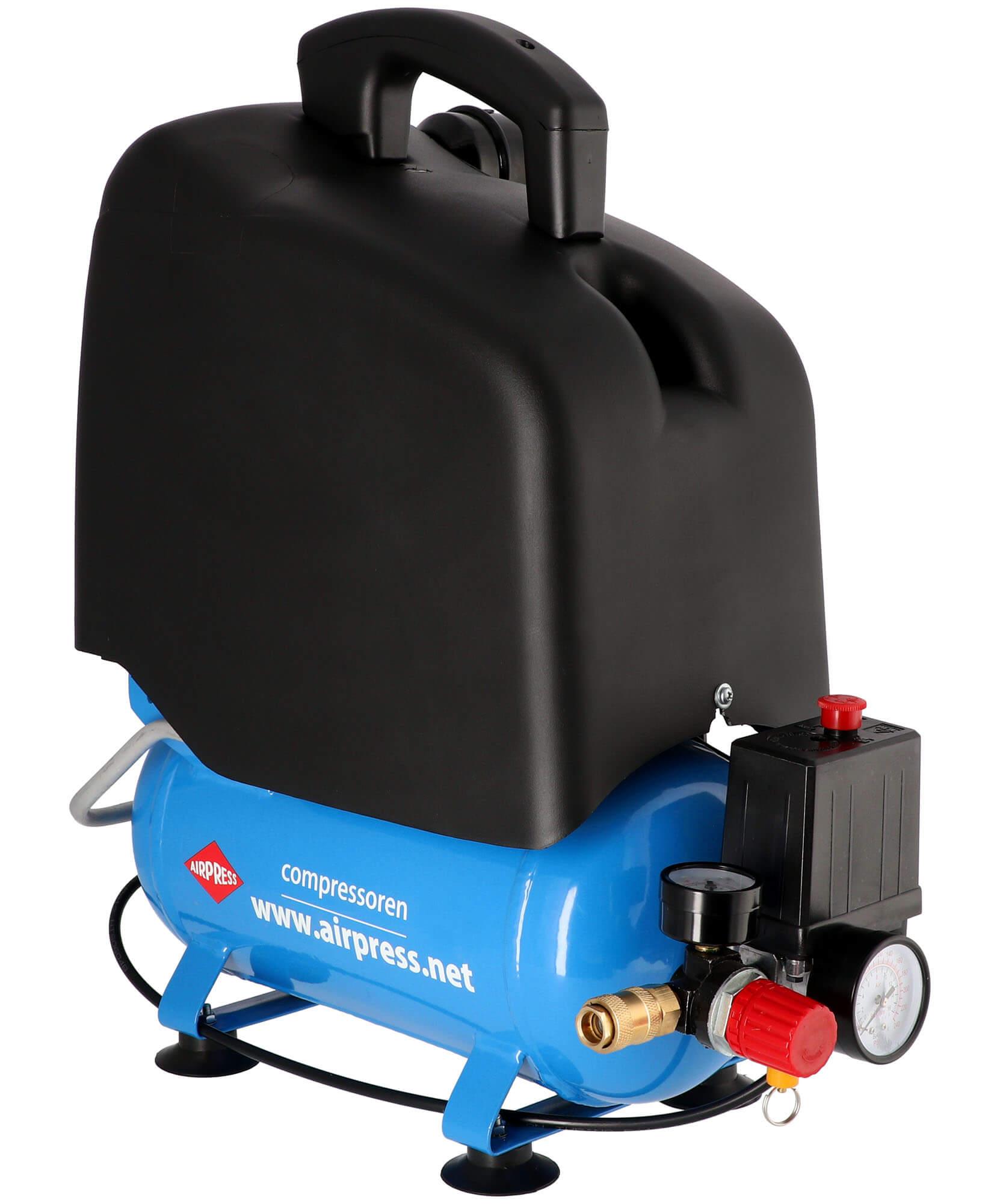 Stille Olievrije Compressor LMO 6-165 8 bar 1 pk 132 l/min 6 l