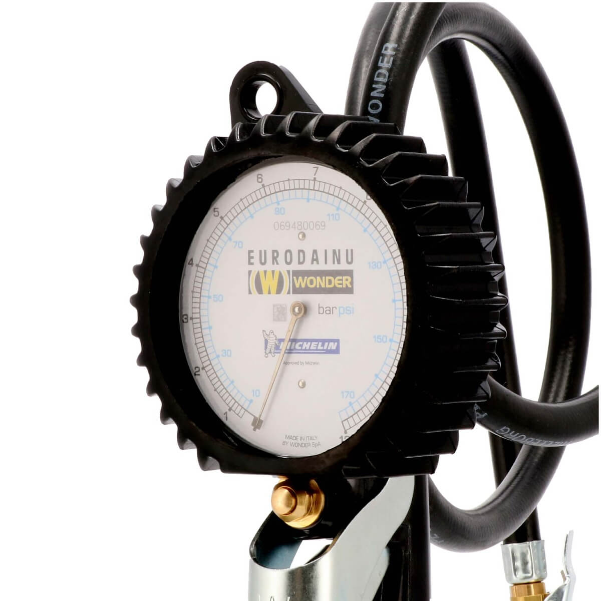 Manometer Michelin bandenvulmeter met slang