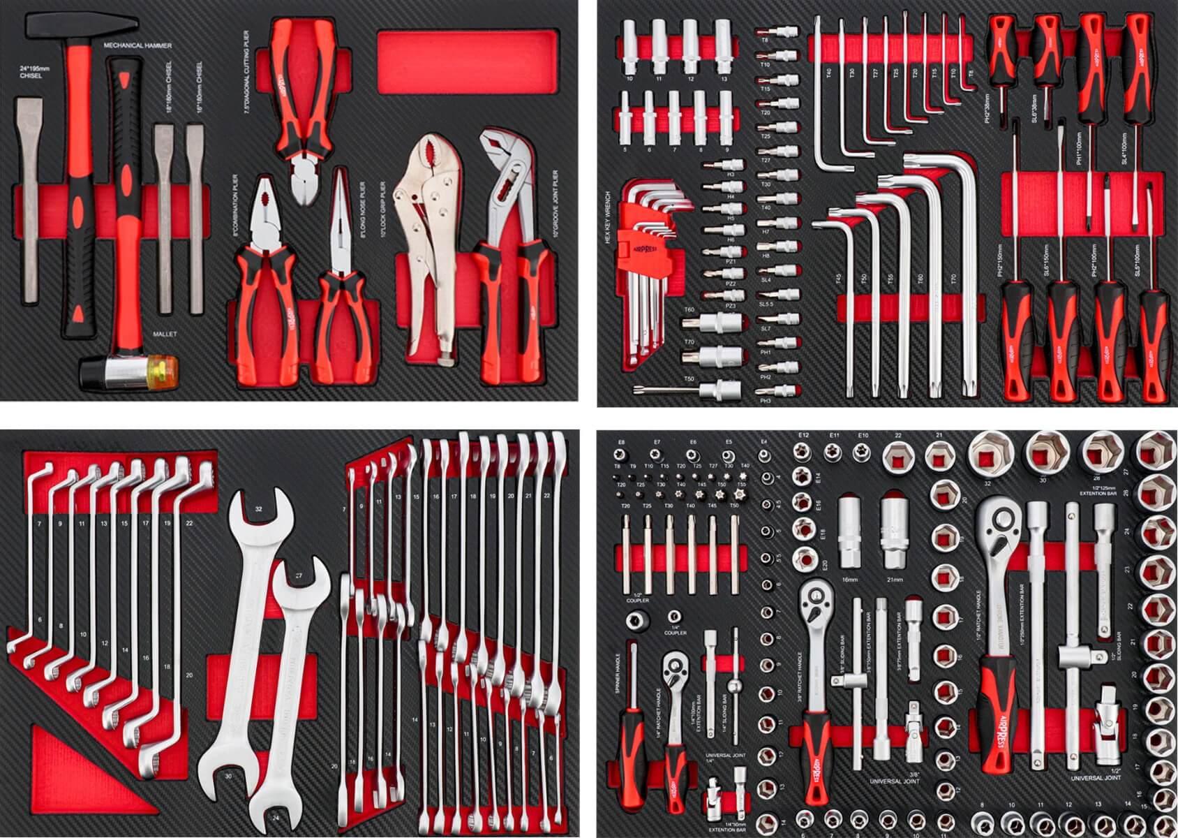 Complete module set met 217 gereedschappen
