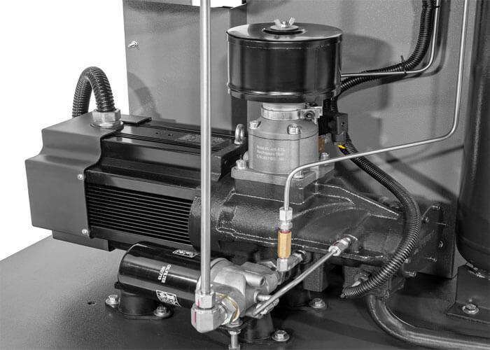 Single-stage schroefblok gekoppeld aan permanent magneet motor APS 75 IVR X