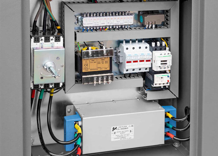 EMC filter in de X 2-stage IVR Schroefcompressor 2-stage motor APS 50 X 2-stage IVR