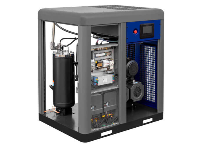 Voorkant schroefcompressor 2-stage motor APS 50 X 2-stage IVR