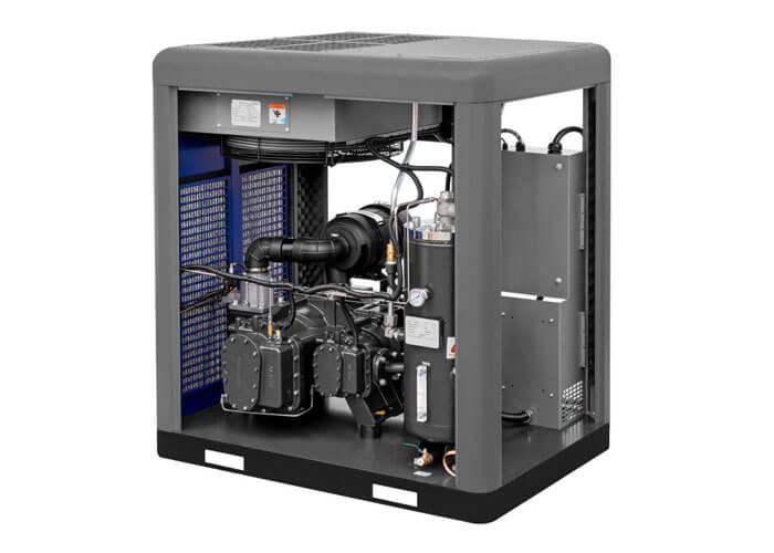 Achterkant schroefcompressor 2-stage motor APS 50 X 2-stage IVR