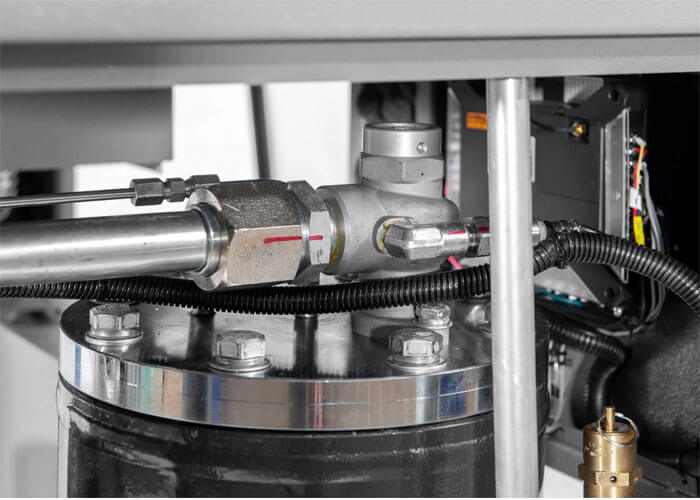 Markering wanneer de schroefcompressor getest is APS 7.5 IVR Combi DryX