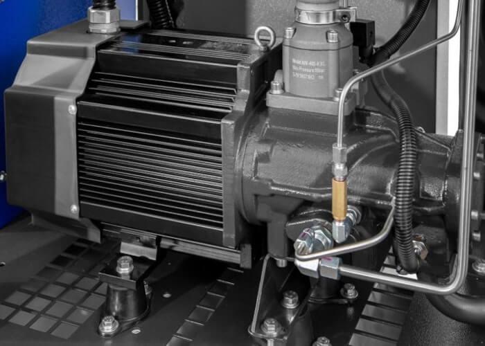 Single-stage schroefblok gekoppeld aan permanent magneet motor APS 7.5 IVR Combi Dry X
